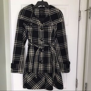 Plaid express coat